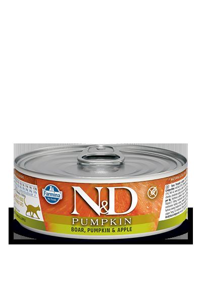 Farmina Natural & Delicious Boar, Pumpkin & Apple Feline Formula Wet Food , 2.8-oz