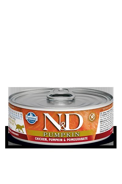Farmina Natural & Delicious Chicken, Pumpkin & Pomegranate Feline Formula Wet Food , 2.8-oz