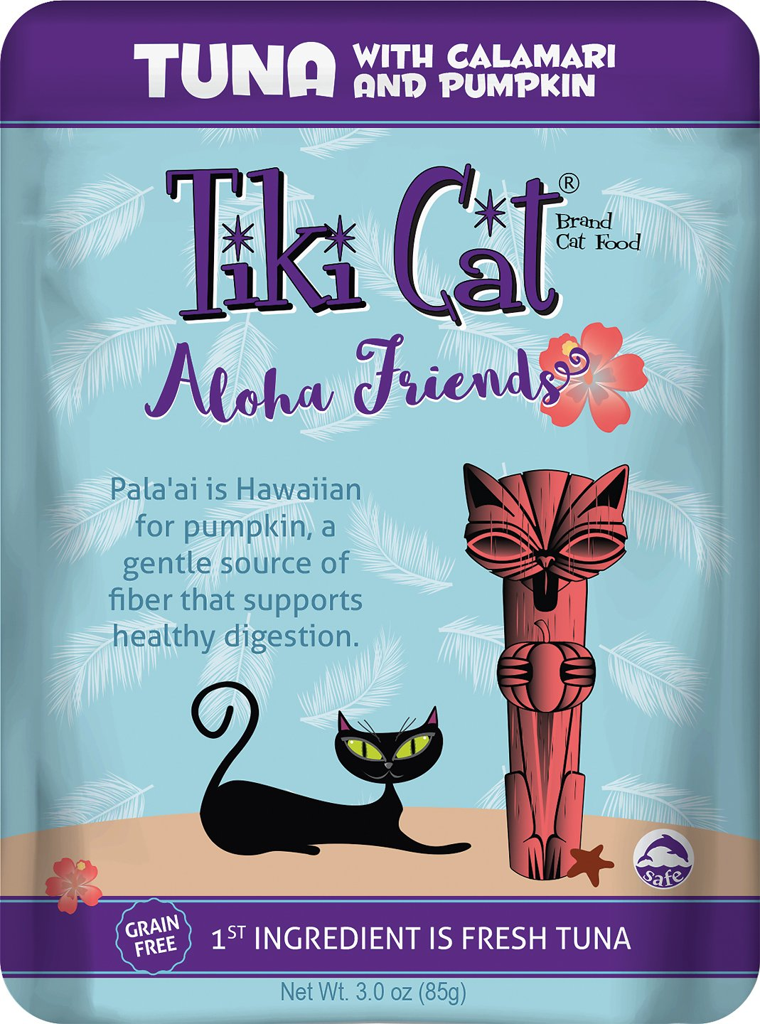 Tiki Cat Aloha Friends Tuna with Calamari & Pumpkin Grain-Free Wet Cat Food, 3-oz