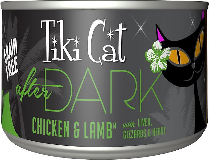 Tiki Cat After Dark Chicken & Lamb Canned Cat Food, 5.5-oz