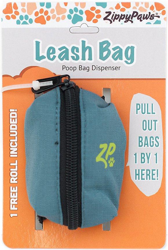 ZippyPaws Leash Attachment Poop Bag Dispenser, Forest Green
