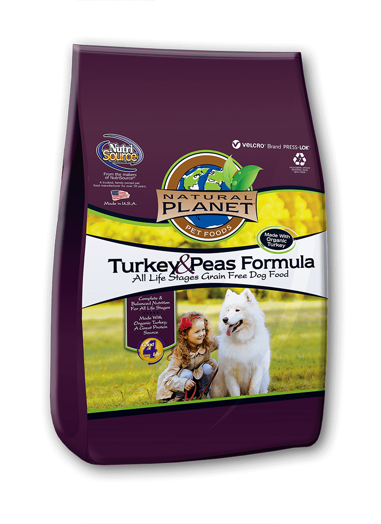 Natural Planet Organics Turkey & Peas Formula Dry Food for Dogs