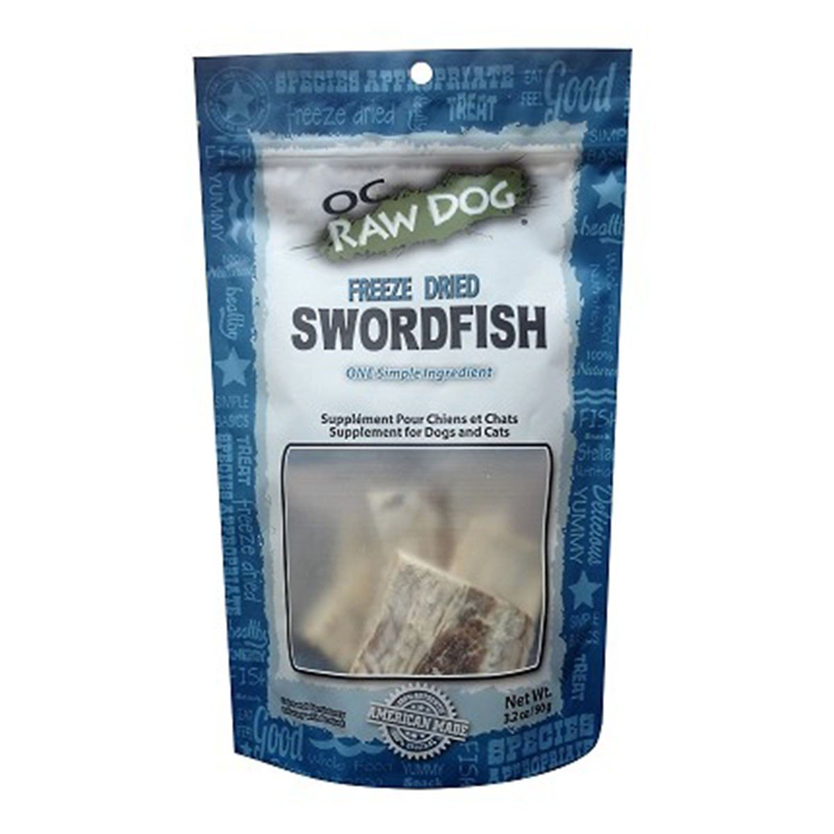 OC Raw Swordfish Freeze-Dried Treats, 3.2-oz