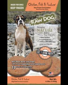 OC Raw Chicken, Fish & Produce Doggie Dozen Patty Bags Frozen Dog Food, 6.5-lb