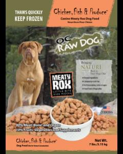 OC Raw Chicken, Fish & Produce Meaty Box Bags Frozen Dog Food, 7-lb