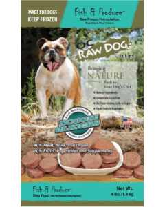 OC Raw Dog Fish & Produce Sliders Raw Frozen Dog Food, 4-lb