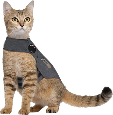 ThunderShirt Anxiety & Calming Solution for Cats, Heather Grey