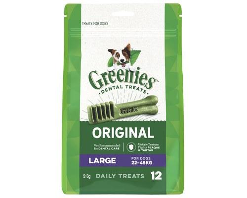 Greenies Original Large Dental Dog Treats, 12-count