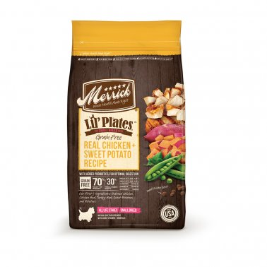 Merrick Lil' Plates Grain-Free Real Chicken & Sweet Potato Dry Dog Food, 4-lb