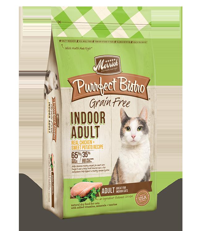 Merrick Purrfect Bistro Grain-Free Indoor Adult Chicken & Sweet Potato Recipe Dry Cat Food, 7-lb