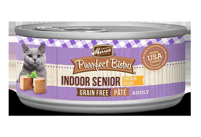 Merrick Purrfect Bistro Indoor Senior Pâté Chicken Cat Food