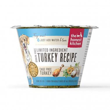 The Honest Kitchen Grain Free Limited Ingredient Turkey Recipe Dehydrated Dog Food Cup, 2-oz