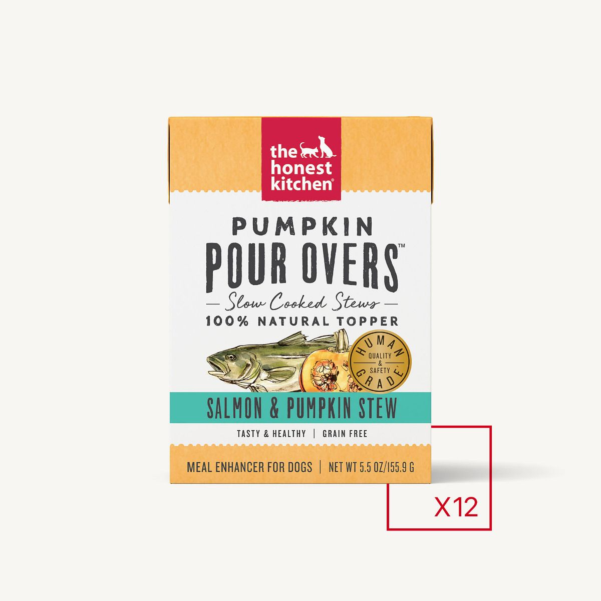 The Honest Kitchen Pour Over Salmon & Pumpkin Topper Dog Food, 5.5-oz