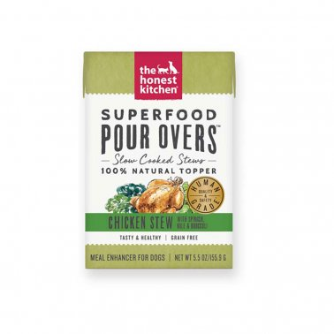 The Honest Kitchen Pour Over Superfood Chicken & Spinach Stew Dog Food, 5.5-oz