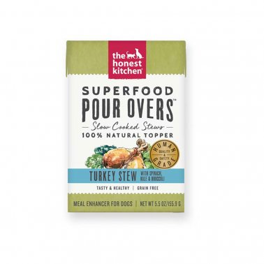 The Honest Kitchen Pour Over Superfood Turkey & Spinach Stew Dog Food, 5.5-oz, case of 12