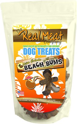 The Real Meat Company Turkey Recipe with Pineapple & Coconut Pina Colada Beach Bums Dog Treats