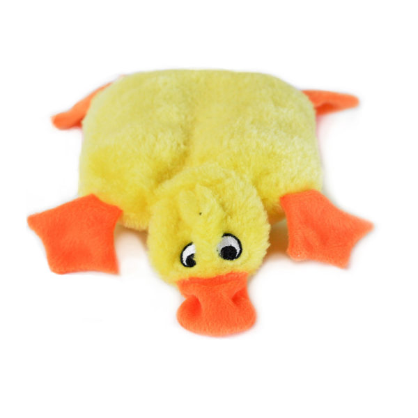 ZippyPaws Squeakie Pad No Stuffing Plush Dog Toy, Duck