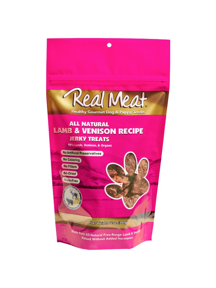 The Real Meat Company Lamb& Venison Recipe Jerky Dog Treats