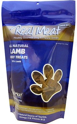 The Real Meat Company 95% Lamb Jerky Bitz Dog Treats