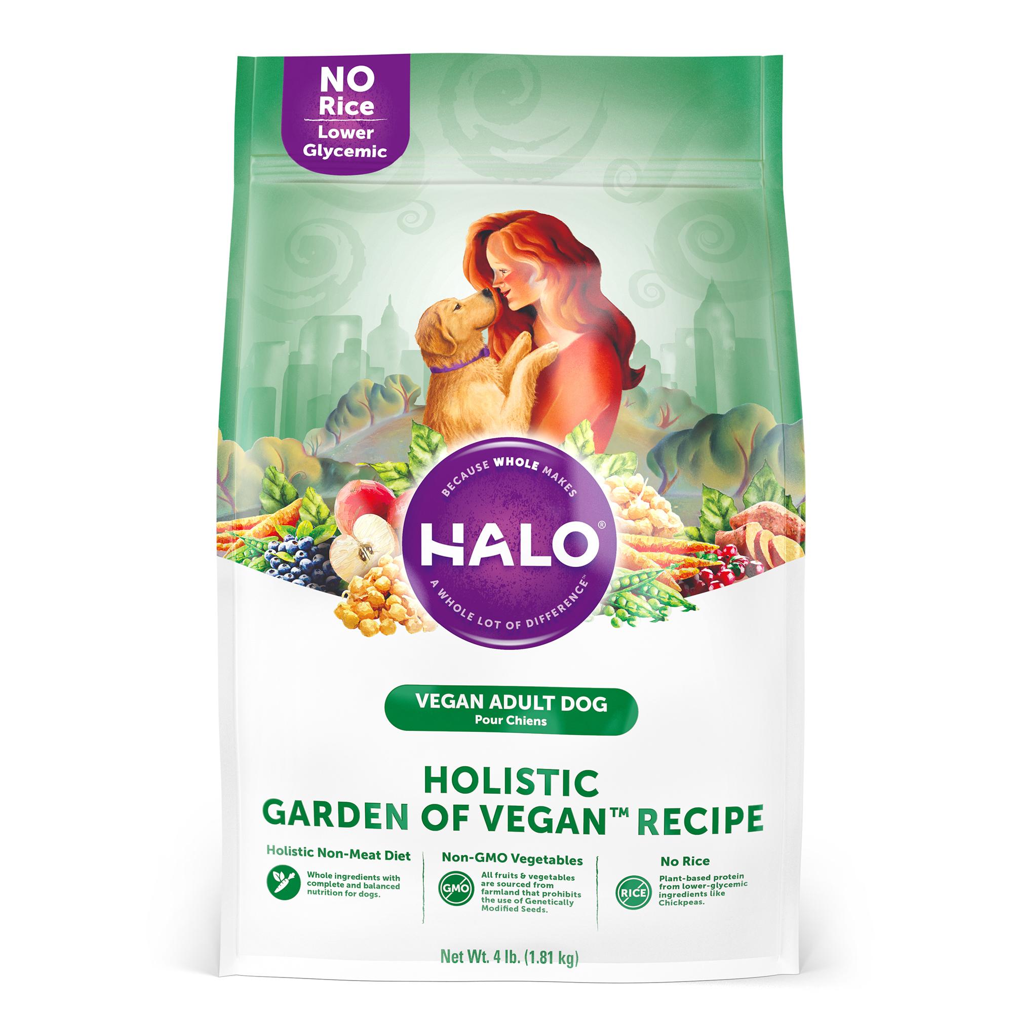 Halo Holistic Garden Of Vegan Adult Dry Dog Food, 4-lb