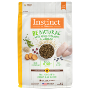 Instinct by Nature's Variety Be Natural Real Chicken & Brown Rice Dogs Food, 25-lb