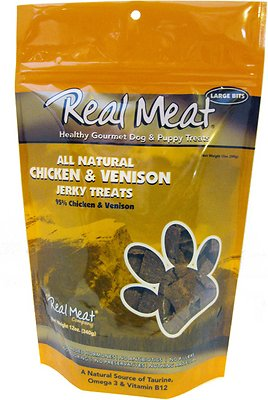 The Real Meat Company 95% Chicken & Venison Jerky Bitz Dog Treats