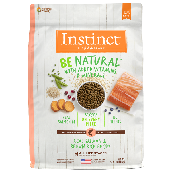 Instinct by Nature's Variety Be Natural Real Salmon & Brown Rice Recipe Dry Dog Food, 25-lb