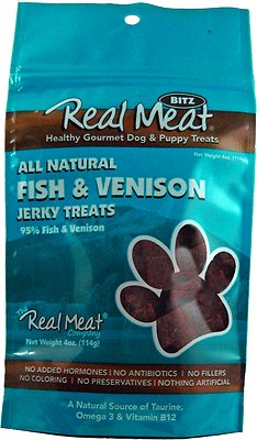 The Real Meat Company 95% Fish & Venison Jerky Bitz Dog Treats