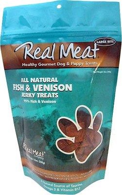 The Real Meat Company 95% Fish & Venison Jerky Bitz Dog Treats