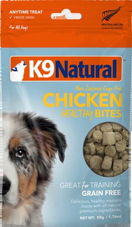 K9 Natural Treats Chicken Healthy Bites Freeze Dried Dog Treats, 1.76-oz