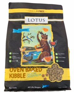 Lotus Chicken Recipe All Life Stages Grain Free Oven Baked Dry Cat Food, 11-lb