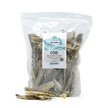 Icelandic+ Fish Treat Cod Skin Short Strips Dog Treat