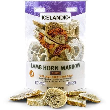 Icelandic+ Lamb Horn Marrow Chips Dog Treats, 2.5-oz