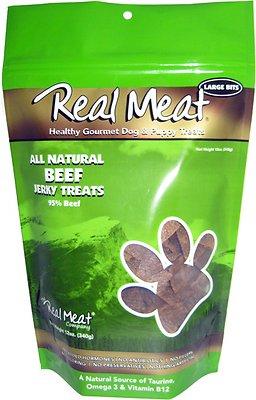The Real Meat Company 95% Beef Jerky Bitz Dog Treats
