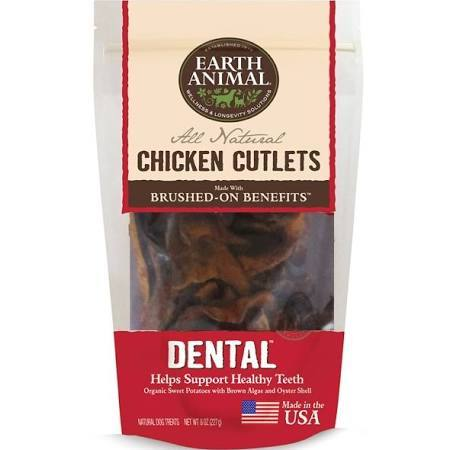 Earth Animal Organic Sweet Potato Dental Dog Treat, 8-oz