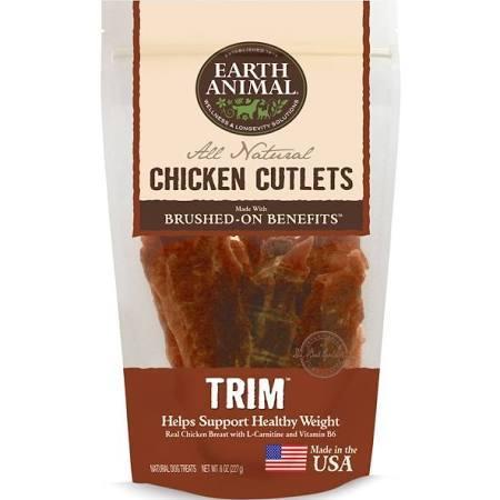 Earth Animal Trim Chicken Cutlets Dog Treat, 8-oz