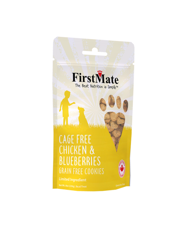 FirstMate Cage Free Chicken & Blueberries Dog Treat