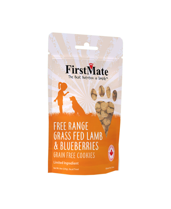 FirstMate  Free Range Grass Fed Lamb & Blueberries Dog Treat