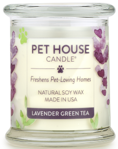 One Fur All Pet House Candle - Lavender Green Tea