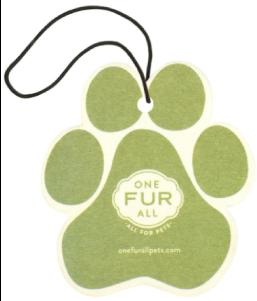 One Fur All Fresh Citrus Car Air Freshener
