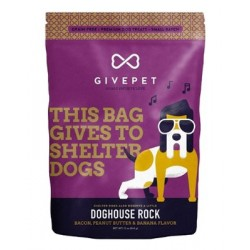 GivePet Doghouse Rock Bacon, Peanut Butter & Banana Dog Treat