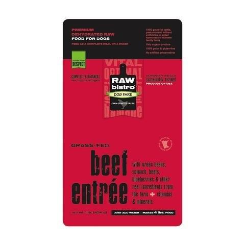 Raw Bistro Beef Entrée Raw Dehydrated Dog Food, 1-lb