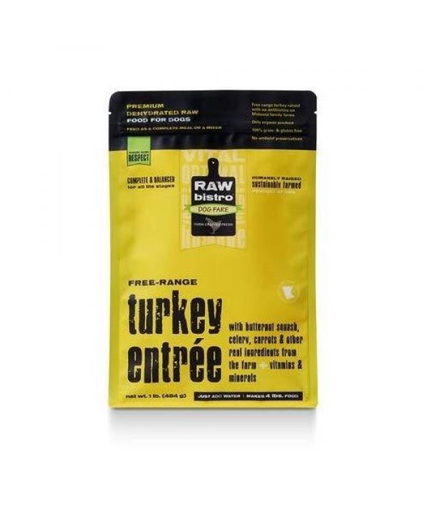 Raw Bistro Turkey Entrée Raw Dehydrated Dog Food, 1-lb