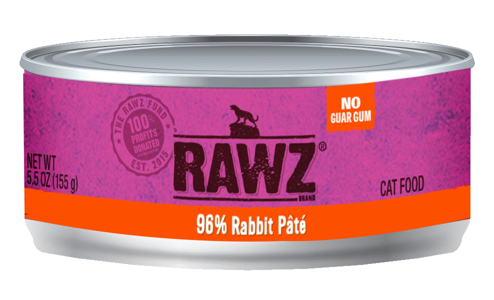 RAWZ Cat 96% Rabbit Pate, 5.5-oz