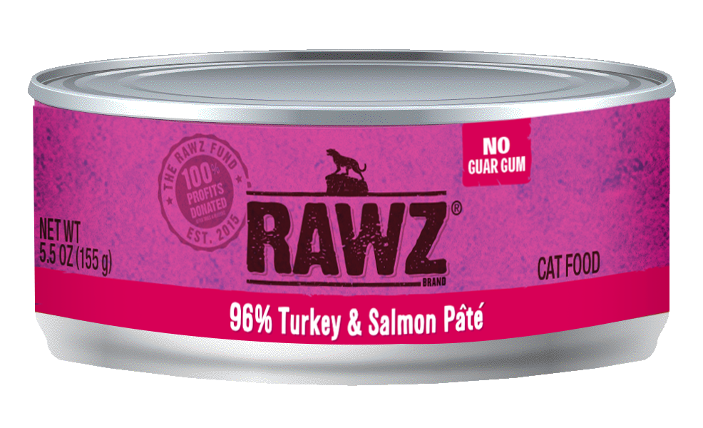 RAWZ Cat 96% Turkey & Salmon Pate