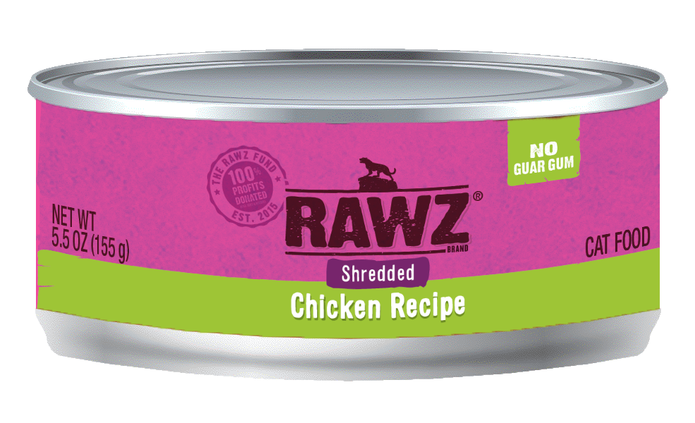 RAWZ Chicken Shredded Cat Can