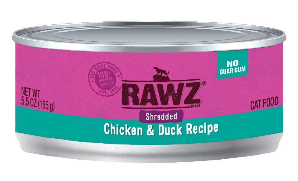 RAWZ Chicken & Duck Shredded Cat Can