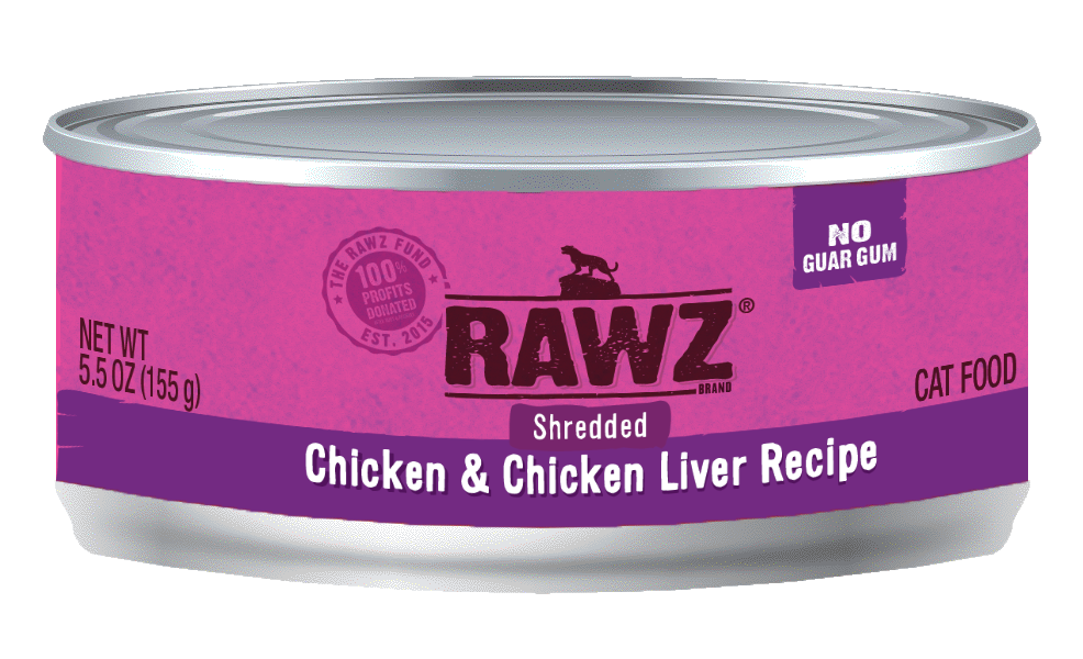 Rawz Chicken & Chicken Liver Shredded Cat Can