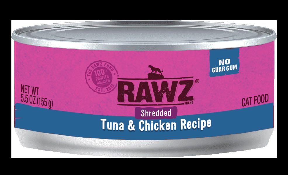 Rawz Tuna & Chicken Shredded Cat Can