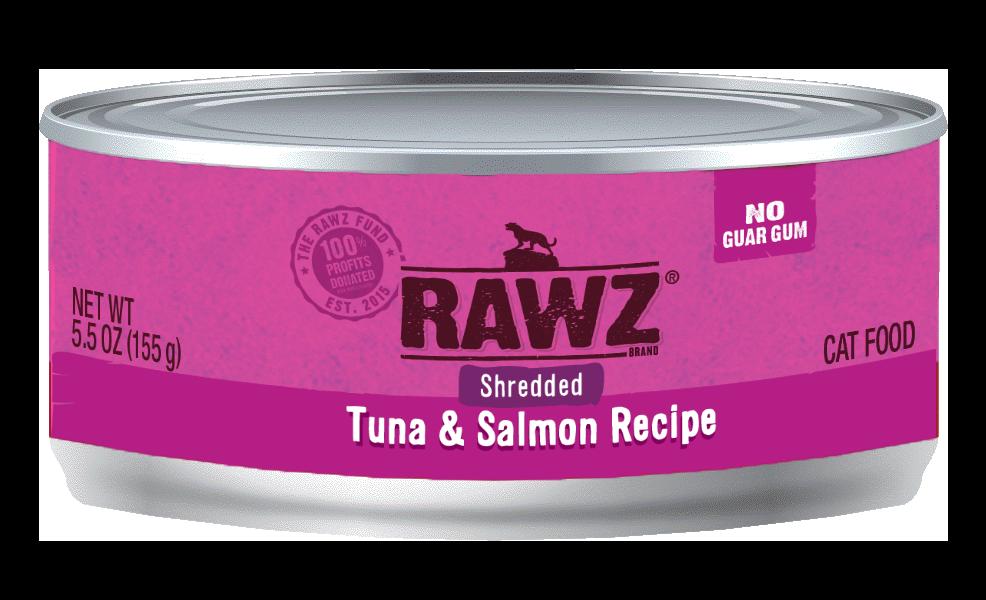 Rawz Tuna & Salmon Shredded Cat Can, 3-oz